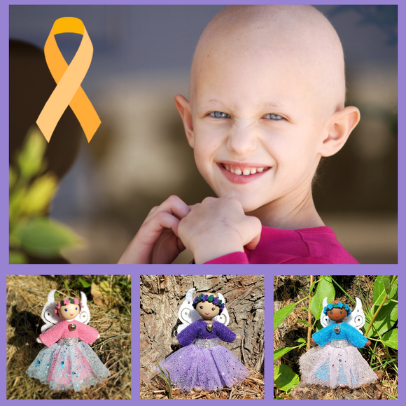 Childhood Cancer Awareness Fairy Dolls