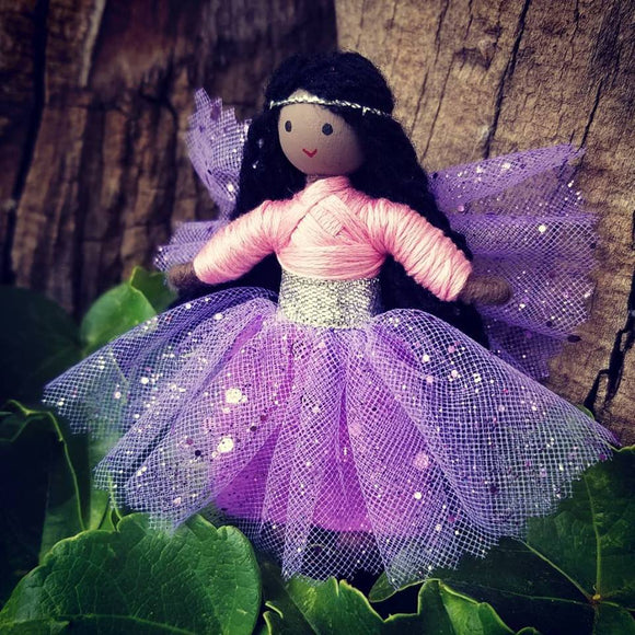 African American Black Fairy Doll