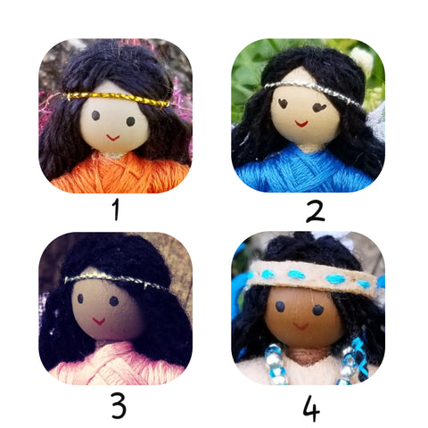 Choose hair color/skin tone dolls