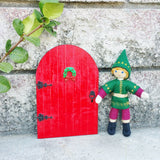 Red Elf door with Kindness Elf Christmas Elf