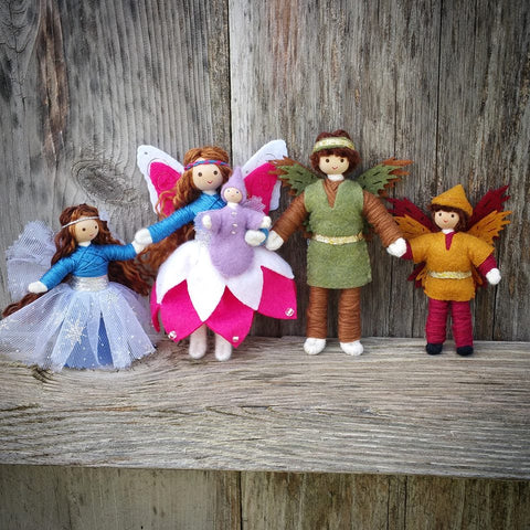Fairy family wildflower toys