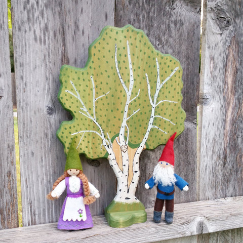 Gnome dolls Wooden Waldorf Play Tree Wildflower Toys