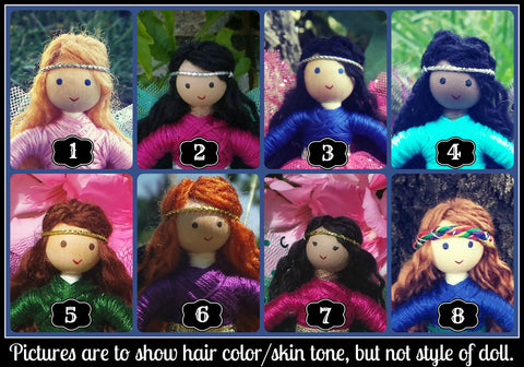 Dolls choose hair color/skin tone