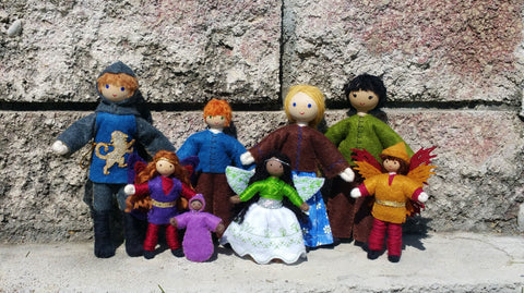 Handmade dolls by Wildflower Toys
