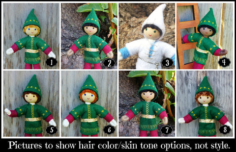 Boy kindness elf dolls