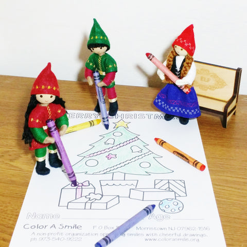 Kindness Elves coloring for Color a Smile