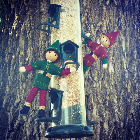 Kindness elves feeding the birds
