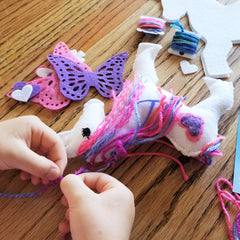Felt unicorn sewing craft kit for girls
