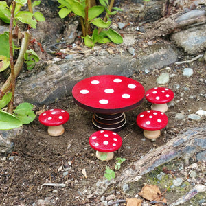 Fairy Mushroom Table & Chairs