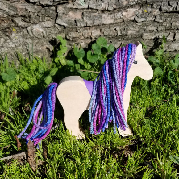 Wooden Horse Purple Mane