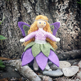 Woodland Fairy Doll (purple & green)