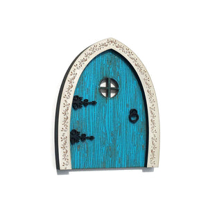 Aqua glitter fairy door Wildflower toys Made in USA