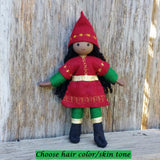 Holiday Caring  Elves Girl (dark brown hair)