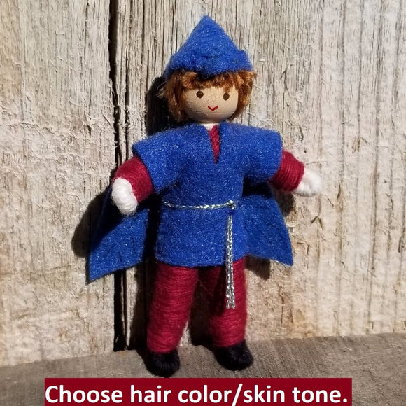 Fairy Doll Boy Blue - Maroon