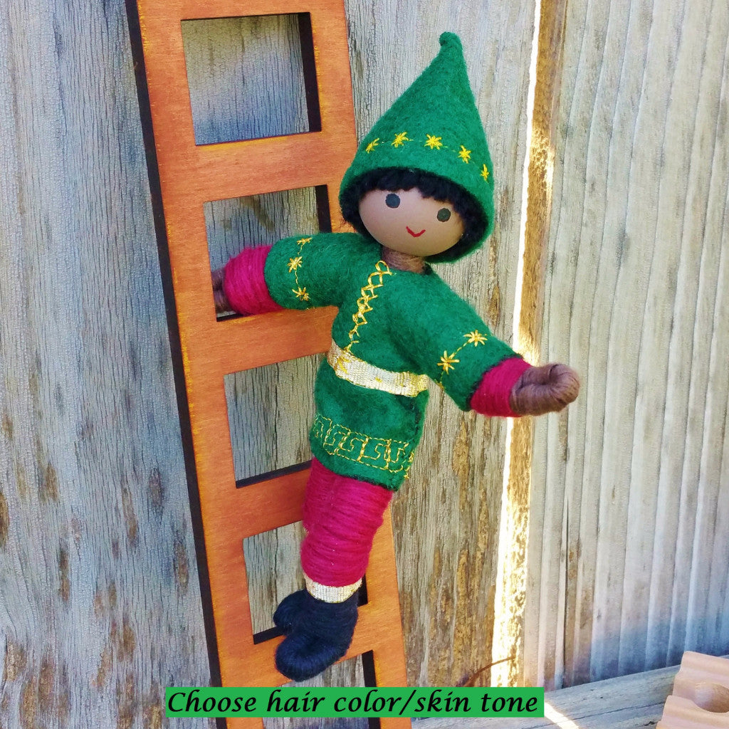 Holiday Caring  Elves Boy Dark Skin