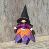 Witch doll brown hair Halloween Toy by Wildflower toys