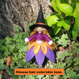 Witch doll blonde hair Halloween Toy by Wildflower toys