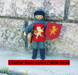 Dollhouse Castle Knight Doll (red tunic)