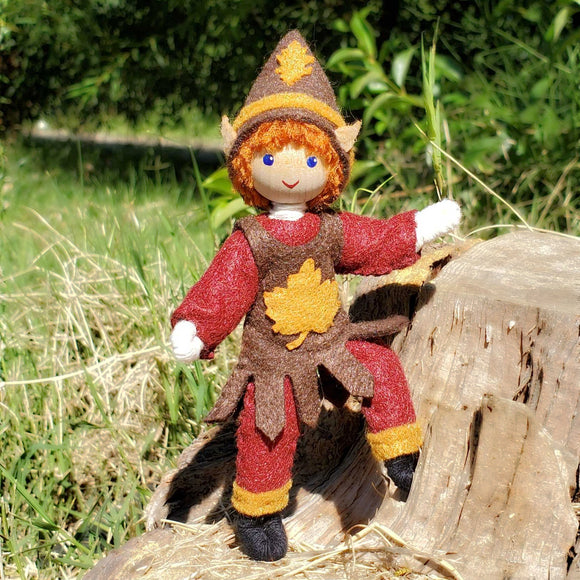 Autumn Elf Boy Doll