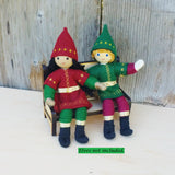 Kindness Elves on  Wooden Bench