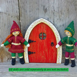 Red elf door with Kindness elves