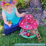 Wooden fairy house mushroom Wildflower toys