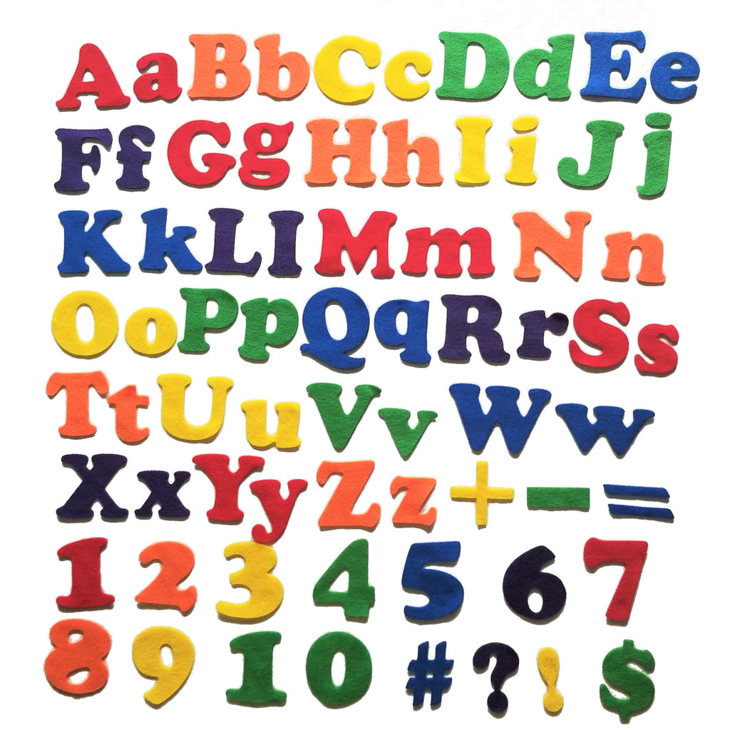 Felt Alphabet Shapes & Numbers - 70 piece