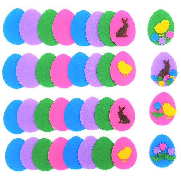 Felt Easter egg cut out shapes