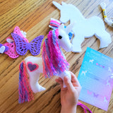 Unicorn birthday ideas - Felt unicorn craft