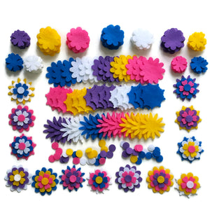 Felt Flower Shapes - Sunshine Mix