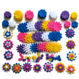 Wholesale bulk felt flowers craft shapes