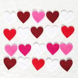 Die cut felt hearts