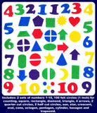 Felt Numbers &  Geometric Shapes - 144 piece set