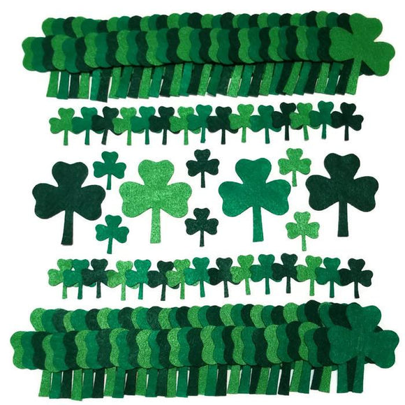 Wholesale Bulk order Green Felt Shamrocks