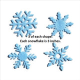 Felt Snowflake Shapes Blue & White