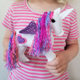 Stuffed Unicorn rainbow hair