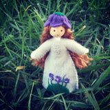 February Birthday Month Flower Doll - Violet - Handmade Wildflower Innocence