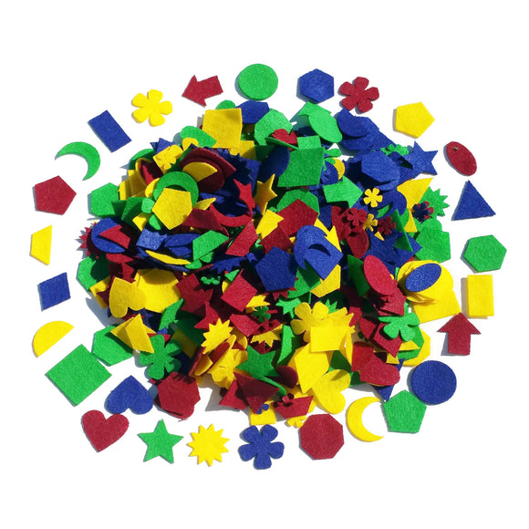Jumbo Pack Assorted Felt Shapes 1.5
