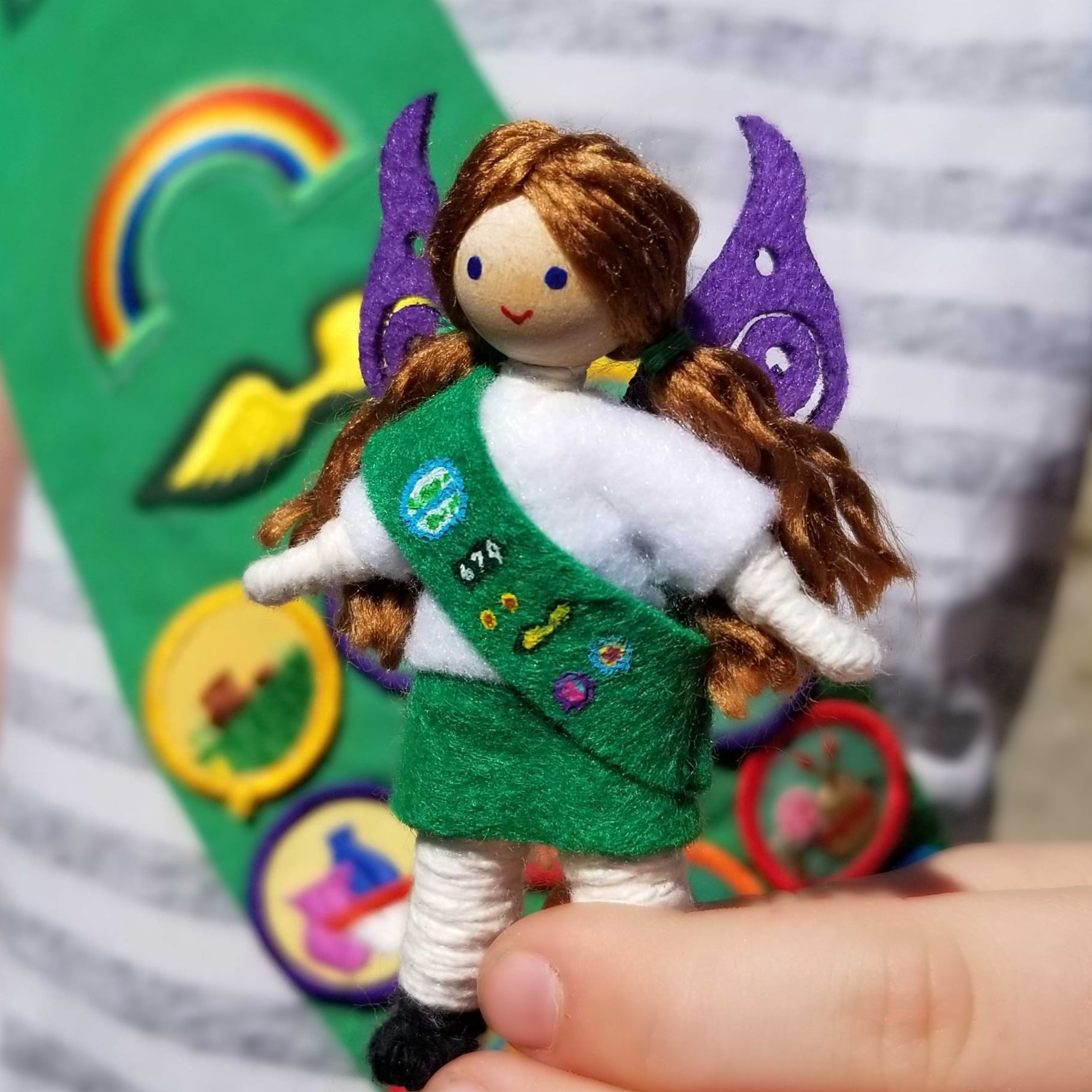 Girl Scout Inspired Fairy Doll