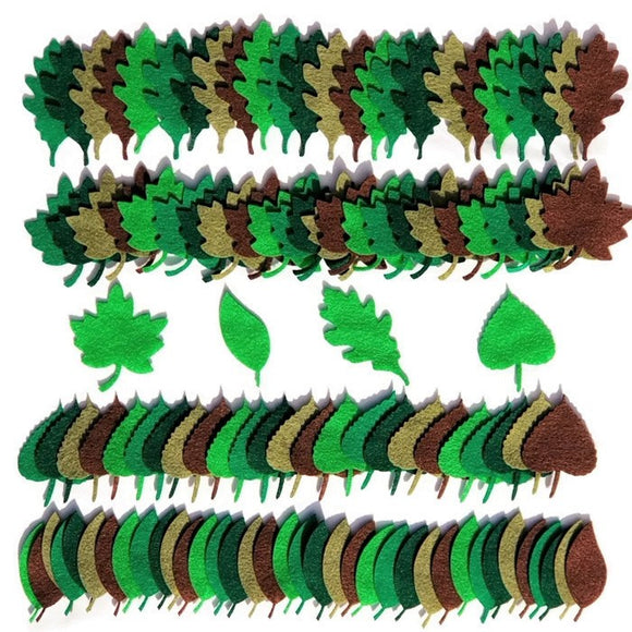 Green Felt Leaves