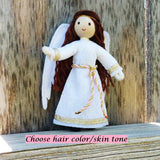 Christmas  Angel doll brown hair