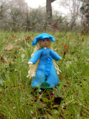 Miniature July Larkspur Birthday doll