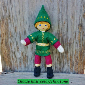 Kindness Elf boy doll blonde hair.
