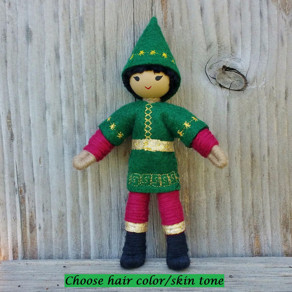 Holiday Caring Elves Boy Asian