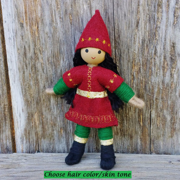 Holiday Caring Elves Girl (tan skin)