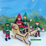 Kindness Elves in Santa's Sleigh