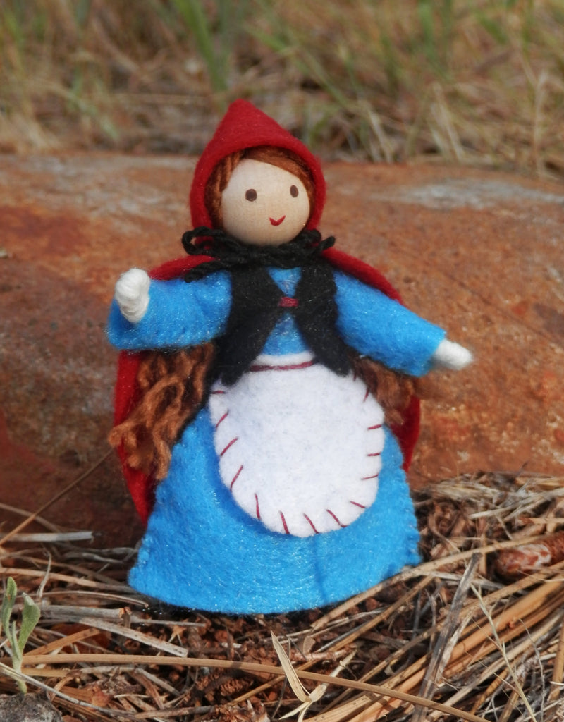 Little Red Riding Hood Doll Miniature Waldorf Bendy Doll