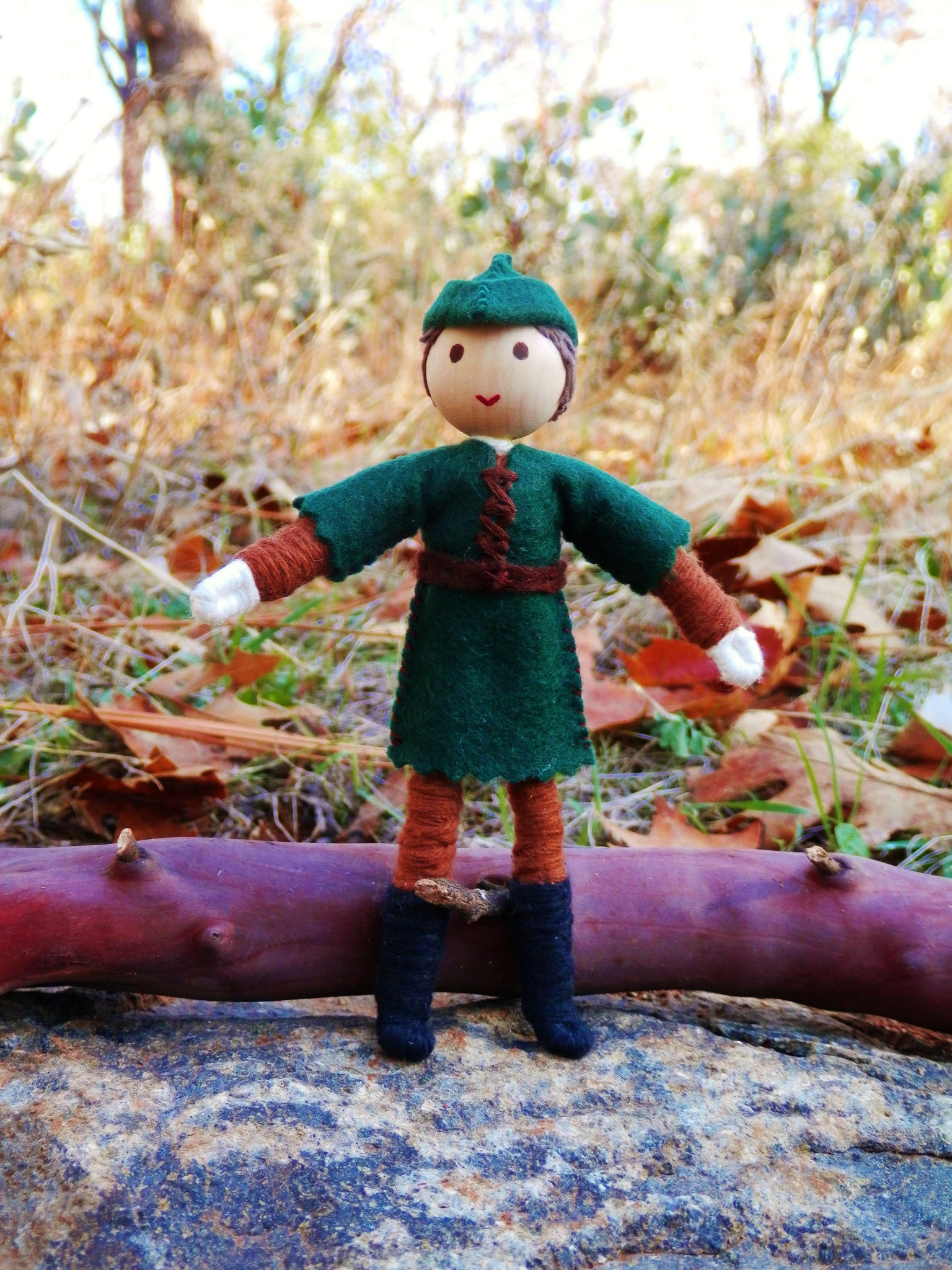 Natural Waldorf Inspired Robin Hood Doll