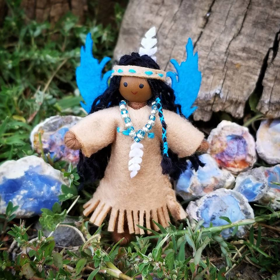Native American Fairy Doll ooak Indian Doll