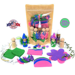 Peg Doll Kit Peg doll felt fairy Made in the USA Wildflower Toys
